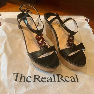 Authentic Prada Wedge Heels in size 9